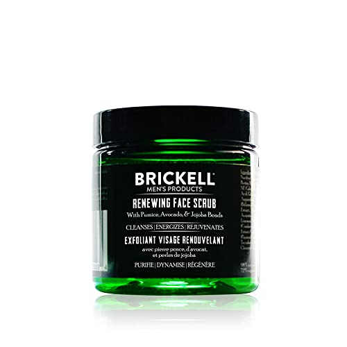 Brickell Men's Products – Crema Exfoliante Facial Renovadora para Hombres – Crema Facial Exfoliante Natural y Orgánica – 59 ml