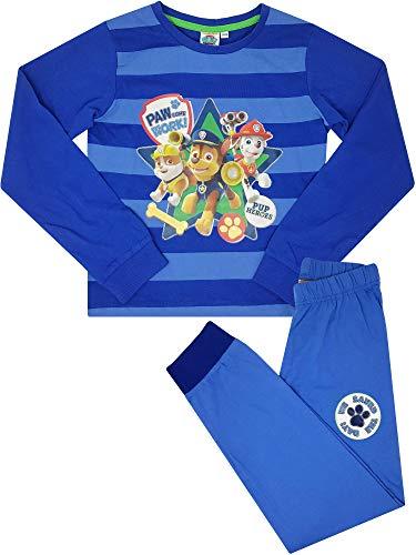 PAW PATROL - Jungen Schlafanzug Lang, Pyjama für Boys, 100% Baumwolle, Oeko-TEX Standard 100 (98-104)
