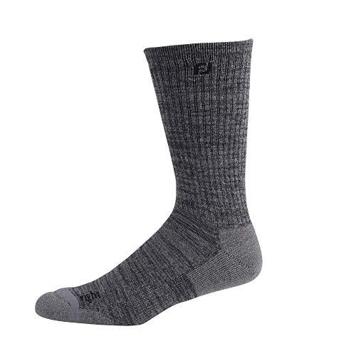 FootJoy Men's TechSof Tour Thermal Crew Socks Charcoal Heather Size 7-12