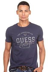Guess Camiseta Loungwear Azul Marino 100% algodón para Hombre