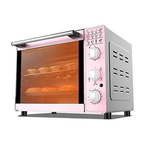 JJSFJH Horno de tostadora Horno eléctrico Hogar y cocina Mini tostadora Horno de tostadora, capacidad 33L, cocina de tostada de horno de encimera, alimentación de cocción de 1600W, cuatro tubos Contro
