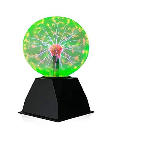 Plasmalampe Lichter,Magic Sphere Light Ball,Berührungs- und Schallempfindliche Ionische Blitzlampe Plasma Ball Light, 6 Zoll