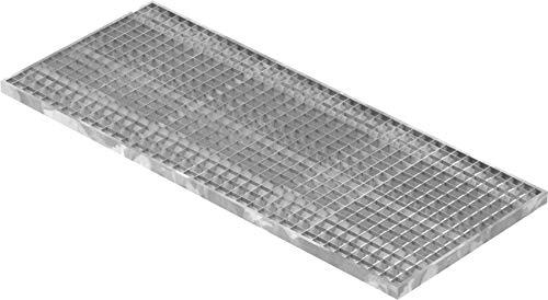 Fenau   Gitterrost/Baunorm-Rost Maße: 490 x 1190 x 30 mm - MW: 30 mm / 30 mm (Vollbad-Feuerverzinkt) (Passend für Zarge: Fenau 500 x 1200 x 33 mm) Industrie-Norm-Rost für Lichtschacht