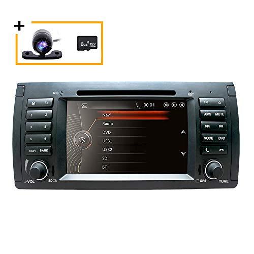 Freeauto 7 pulgadas Dash coche radio vehículo solo DIN coche reproductor de DVD para BMW serie 5 E39 E53 X5 M5 soporte estéreo volante control Bluetooth SD USB Radio