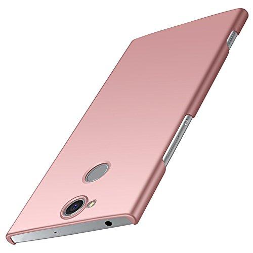 anccer Sony Xperia XA2 Plus Hülle, [Serie Matte] Elastische Schockabsorption & Ultra Thin Design für Sony XA2 Plus (Nicht für Sony XA2) (Glattes Rosen-Gold)
