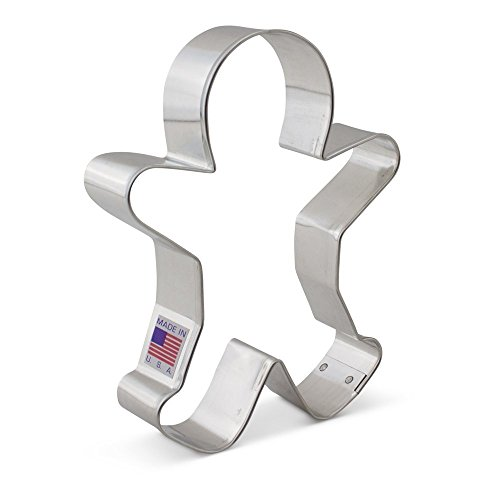 Ann Clark Cookie Cutters Happy Gingerbread Man Cookie Cutter, 5.25'
