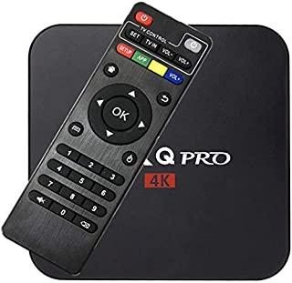 MXQ Pro Smart TV Box 4GB+32GB,Intelligent 4K Ultra HD Media Player, work with Projector, TVs & Mobile Phones, powered by A...
