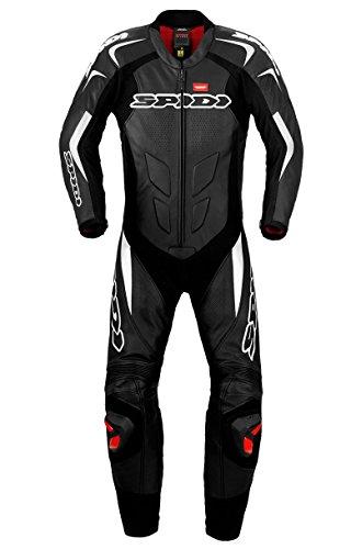 SPIDI Motorrad Lederkombi Supersport Wind Pro, Schwarz/Weiß, Größe 54