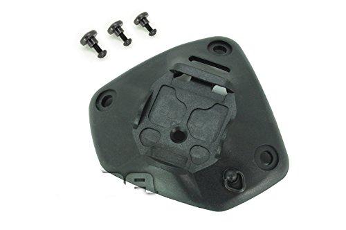 4Farben (schwarz, DE, FG, Tan), Universal NVG Night Vision Tuch Mount Base 1oder 3Löcher für Ach mich PASGT CVC NV Helm für Tactical Paintball Softair, schwarz