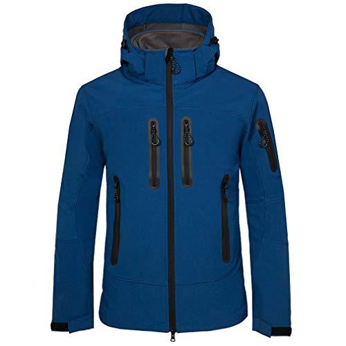 CIKRILAN Hommes Coupe Polaire Manches Longues Veste Outdoor Golf Sports Manteau avec Capuche (S, Bleu foncé)