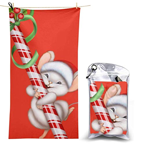 XCNGG Merry Christmas Microfiber Beach Towel, Quick Fast Dry Towel Blanket Sand Free Soft Absorbent Lightweight Bath Towels for Beach, Bath, Swim, Travel