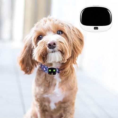 Heimtiertracker,Vogvigo Echtzeit-Tracking-Halsbandgerät, Location Tracker mit unbegrenzter Reichweite, APP-Steuerung für Hunde und Katzen mit unbegrenzter Reichweite (weiß)