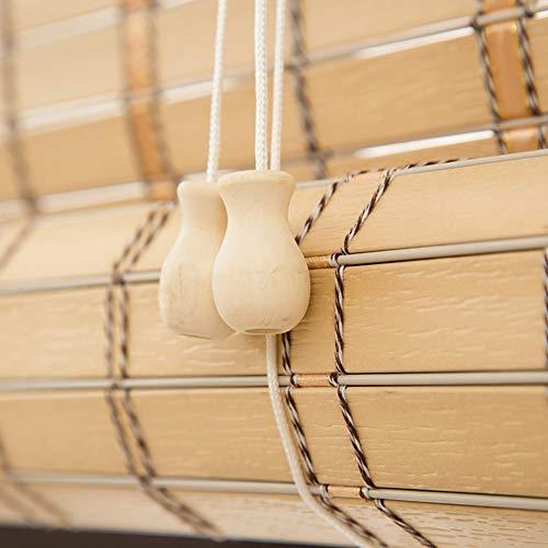 Bambusrollo Premium-Rollläden Für Den Innen- Und Außenbereich, Rollläden In Khaki, Patio/Pavillon/Pergola/Carport-Sonnenschutz, 85cm / 105cm / 125cm / 145cm Breit (Size : 105×220cm)