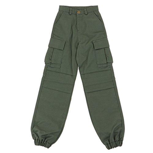 Toygogo 70cm BJD Männliche Kleidung, Trendige Hosen Freizeithose Mit Taschen Für 1/3 BJD Onkel Puppe Action Figuren Verkleiden Sich, Puppe DIY Supplies - Armeegrün
