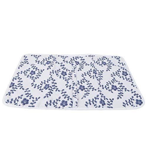 Sábana impermeable, colchón para niños pequeños, para cestas/cunas para niños, adultos y mascotas(Blue floral)