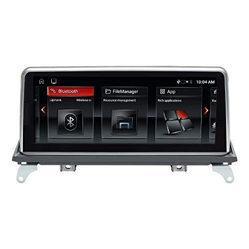 Navegador GPS para coche Android 10 Estéreo automático para BMW X5 X6 E70 E71 2007-2010 Sistema CCC Octa Core 4GB RAM 32GB ROM con sistema iDrive Retenido Pantalla táctil de 10.25 pulgadas con Carplay