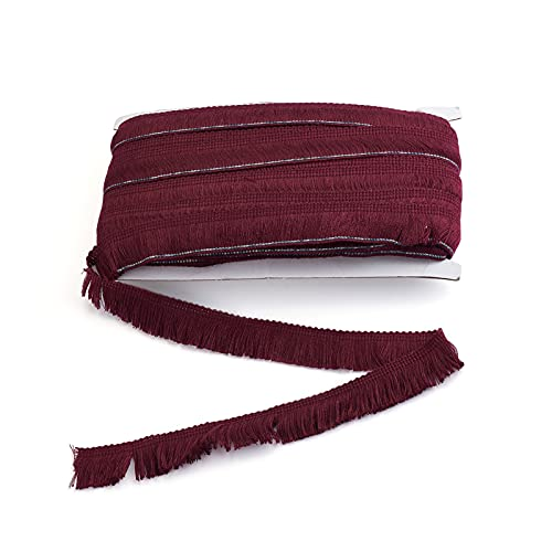MegaPet Polyester Fringe Tassel Lace Ribbon Trims 1 Inch x 27 Yards Chainette Fringe Fibre Trim Coconut Brown for Sewing Quilting Lampshade Curtain Decoration