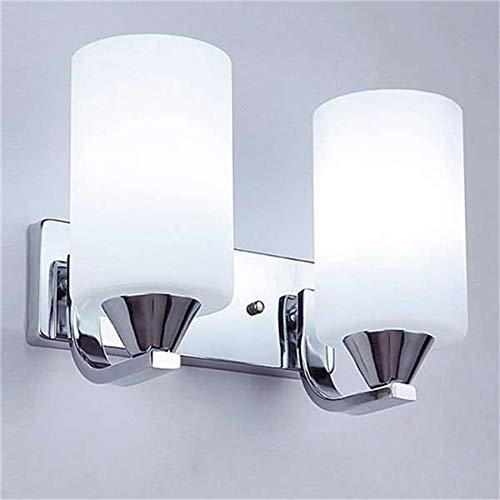 Allamp Cristal moderno llevó la luz de lámpara de pared de la lámpara de iluminación del acero inoxidable de la pared de cristal aplique cilindro de vidrio Fixture dormitorio decoración de interior Ut