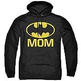 Batman Bat Mom Unisex Adult Pull-Over Hoodie, Black, Large