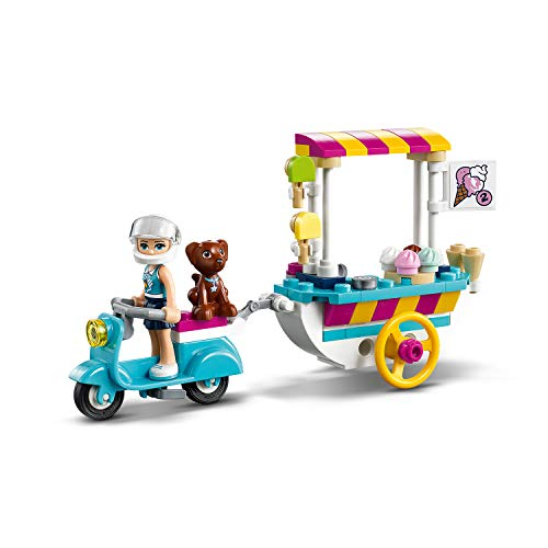 LEGO 41389 Friends Ice Cream Cart Playset with Stephanie, Scooter and Dash the Dog Figure, for Kids 6+ Years old