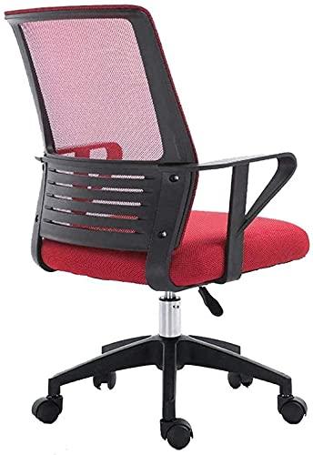 WSDSX Office Stuhl,Bequemer Lift Drehstuhl Bürostühle Computerstuhl Ergonomischer Schreibtischstuhl Höhenverstellbare Aufgabe Drehbarer Bürostuhl Kniestuhl, Rot