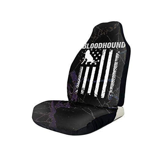 Sale!! Bloodhound America Flag Car Seat Covers for Vehicles Universal 3D Printing Car Seat Covers Fr...