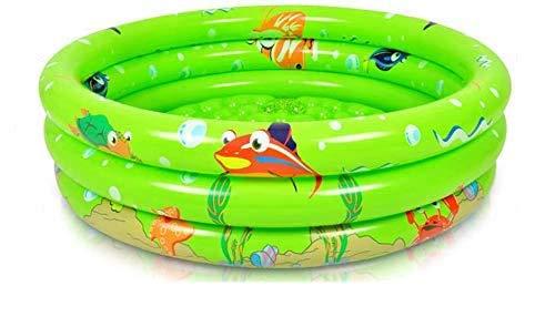 WUAZ 3 Anillos de Piscina para niños, 47' X 12', los niños Piscina para Age 2 +, Inflable del bebé de la Bola del hoyo Piscina, Pelota de Juguete Piscina Piscina para niños, Verde
