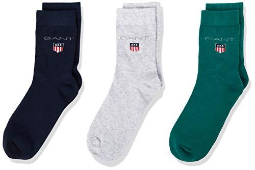 GANT Jungen 3 Pack Originals Klassische Socken, Evening Blue, 37-39