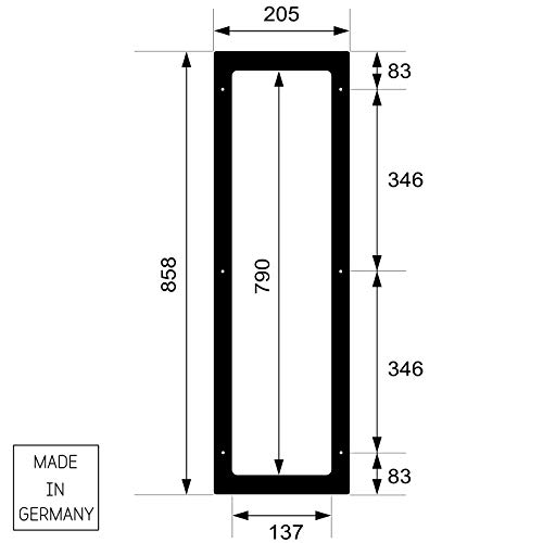 Infrarotstrahler GKR-AR Glaskeramik RotLicht  Sauna inkl Abdeckrahmen Tiefenwärmestrahler Bild 5*