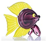 WQQLQX Statue Tropical Featured Fisch Tier Kunst Skulptur Kontrast Farbe Fisch Glas Puppe Statue Wohnkultur Zubehör Geschenk Handwerk Tierkunst Figuren Skulpturen