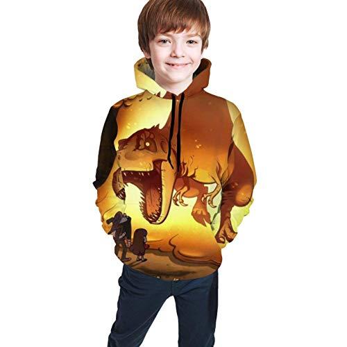 maichengxuan Unisex Kinder Hoodies Gra-Vity Pi-NES Herbst Pullover Sweater 3D Gedruckt Mädchen Leichte Sweatshirts mit Tasche für 18-20 Jahre Gr. 10-12 Jahre, Schwarz