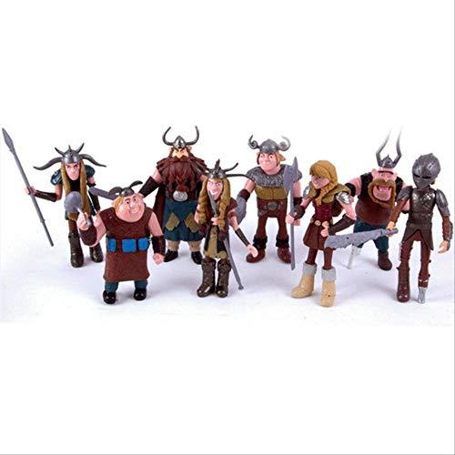 Mipojs How To Train Your Dragon 2 Night Fury Sdentato Action Figures in PVC, Cartoon Movie Model Anime Figurine Bambole Giocattolo per Bambini 10-13Cm C