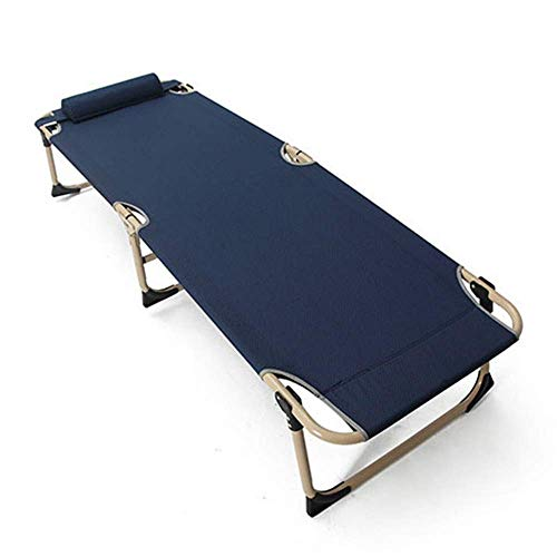 Z-LIANG Folding Camping Guest Bed Sun Lounger Sleeping Beds Office Outdoor Chaise Longue Nap Cushion Pillow