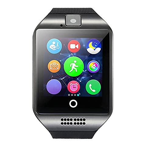 Ymxcwer85851 Reloj Inteligente con Pantalla táctil, Reloj con cámara y Tarjeta SIM, Reloj para teléfono para niños (Negro)