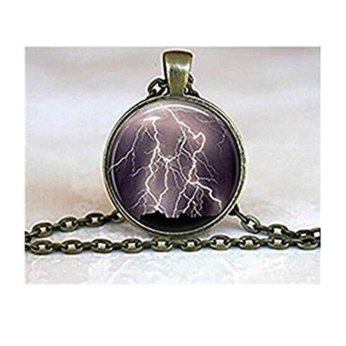 Lightening Strike Blitzform. Storm Extreme Wetter handgefertigt Halskette