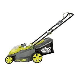 Sun Joe iON16LM 40-Volt 16-Inch Brushless Cordless Lawn Mower, Kit (w/4.0-Ah Battery + Quick Charger), ION16LM 1 <p>For use with iBAT40 Series 40 V lithium-ion batteries and iCHRG40 and iCHRG40QC chargers - sold separately No pull cords, gas, oil, tune-ups, carbon emissions or tangled extension cords Powerful brushless motor increases battery efficiency, maximizes motor performance, decreases noise and vibration and extends motor life Compact design ideal for small to mid-sized lawns ETL approved; Full 2-year warranty; Energy Star certified</p>