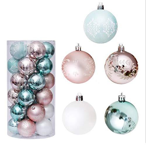 """Geagodelia 30 PCS Bolas de Navidad para Decorar Árbol Navideño Juego de Decoración Adornos Colgantes Bola Decorativa φ 6CM para Fiesta Navidad Hogar (Dorado, 2.36"""")"""