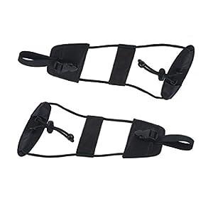 MosBug Easy Bag Bungee Straps Adjustable Belt - 2 Pack