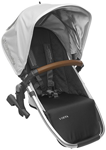 Fantastic Deal! 2018 UPPAbaby Vista RumbleSeat - Loic (White/Silver/Saddle Leather)