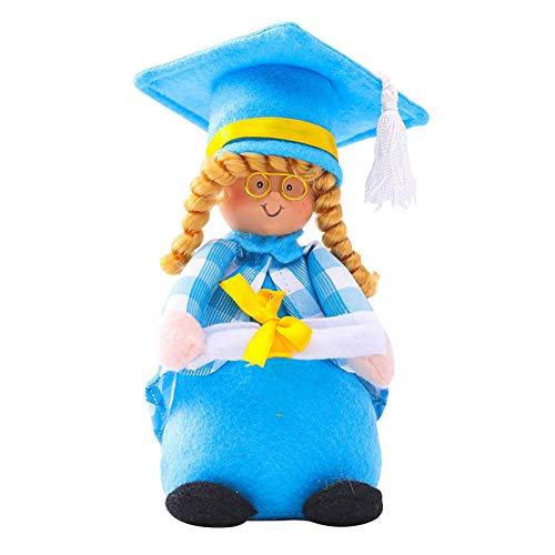 flouris Felicidades Muñeca del Trapo, Graduación Muñeca - Muñeca del Día Graduación con El Vestido Y El Diploma De La Tapa, 22 Cm