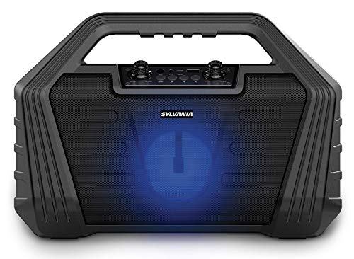 SYLVANIA SP571 Light-Up Bluetooth Speakers (Briefcase Karaoke Speaker), Black