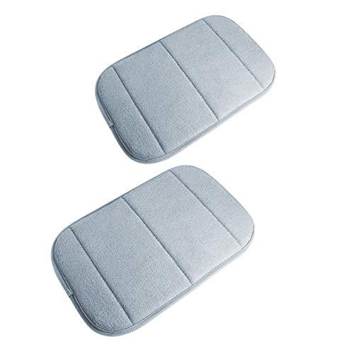 2 Stück Tragbar Handgelenkauflagen Handgelenks Pad, Ergonomische Handballenauflage Ellbogen Pad mit Memory-Schaum, Entlastung des Handgelenks Ellenbogen Pad (7,9 x 11,8 Zoll) (Grau)