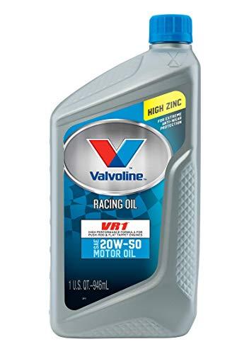 Valvoline VR1 Racing 20W-50 Motor Oil, 1 Quart (Pack of 6)