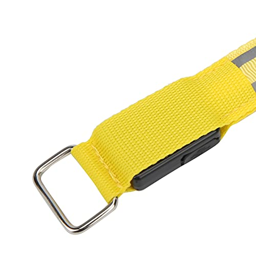 Voluxe Brazalete Reflectante, Tren de Seguridad para Correr, Tiras Luminosas Dobles, Pulsera iluminada, Pulsera LED para Correr, para Correr, en la Oscuridad, para Caminar(Yellow)