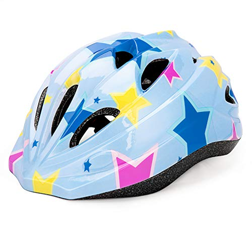 Kids Cycle Bike Helmet, Adjustable For Toddler Multi Sport BMX Bicycle Helmet, Sports Safety Protective Helme for Mountain Bike Skateboard Skating, Light Weight, Age Guide 3-8 years Boys/Girls (blue)