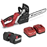 Loggers Art Gens 16-Inch Cordless Electric Chainsaw,2 x 21V (42V) Lithium-Ion Outer Rotor Chain Saw,6Ah Battery and Charger Included for Cutting Wood Outdoor Home Farm Use