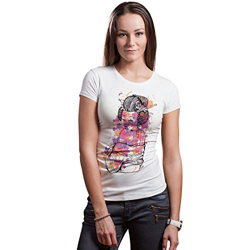 Chemische femme Geisha japonaise - Kawaii Japanse Top Tee - Tokyo Womens Print Graphic TshirtVêtements cadeaux - Nouveauté Nouveau T-shirt Extravagant