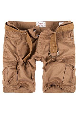 MERISH Cargo Shorts + Gürtel Herren Kurze Hose Bermuda Chino Jeans 65 Braun 30