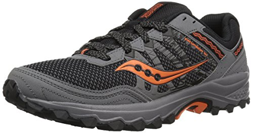 Saucony Men's Excursion TR12 Sneaker, Grey/Orange, 10 W US