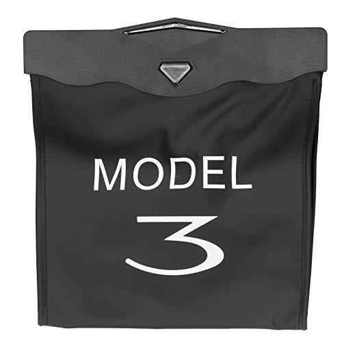 Wiszący Organizer na Tylne Siedzenie, Odporny na Zużycie Wielofunkcyjny Organizer na Fotele Samochodowe ze Sztucznej Skóry dla Modelu 3/Y 2019-2021